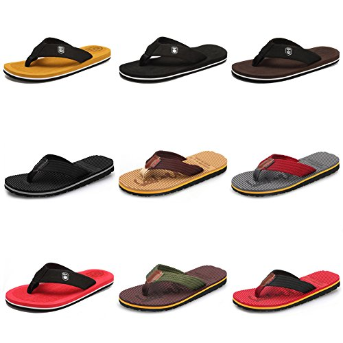 Classical Sandals Men's Handmade Beach Red CIOR Fashion Indoor 02 Thong Outdoor and Slipper Comfortable Flip Flop 0Bfx5q