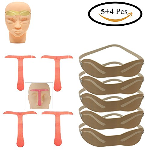 5 Pack Practice Skin Model Head For Permanent Makeup Eyeb...