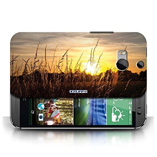 Etui pour HTC One/1 M8 / Champs d'orge conception / Collection de Coucher du Soleil