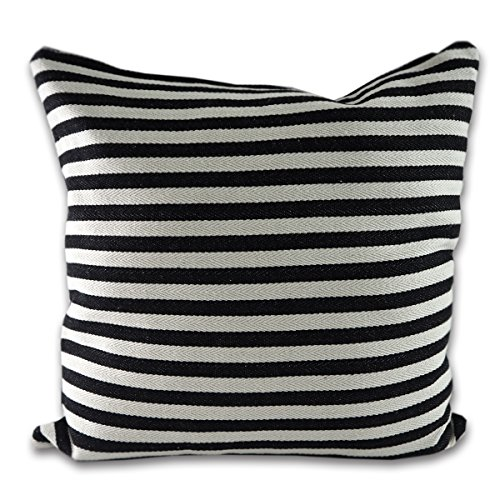 tamarind-bay-18-in-luxury-black-and-white-patterened-double-sided-throw-pillow-cushion-cover-with-su