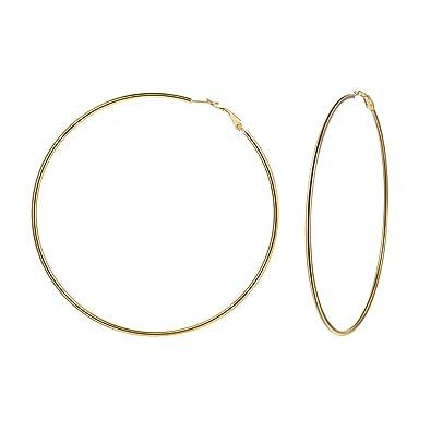 7fd95c15a01fe U7 3 Pairs/4 Pairs/Large Hoop Earrings Set, Stainless Steel Small Loop  Earrings Endless Hoop for Women Girls