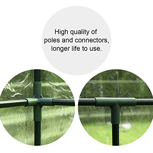 "Quictent 102lbs Max Weight Capacity 100% Waterproof Mini Walk-In Greenhouse 56""x29""x77"" Portable Garden Green House 6 shelves"