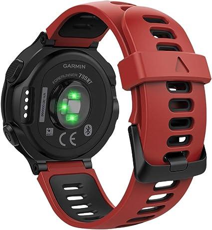 MoKo Reloj Correa para Garmin Forerunner 735XT/220/230/235/620/630 ...