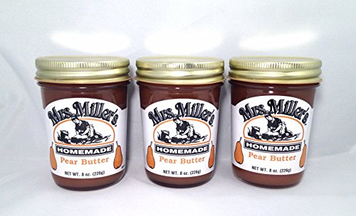 Mrs. Miller's Amish Homemade Pear Butter 8 Oz. - Pack of 3 (Boxed)