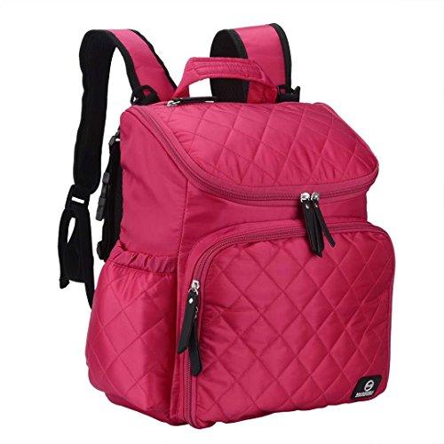 Hot Pink Black Diaper Bags - 3