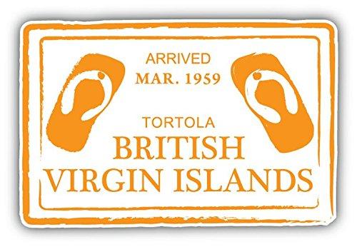 (British Virgin Islands Grunge Travel Stamp Sticker Decal Design 5