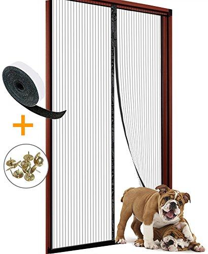 Magnetic Screen Door 34x82 for Sliding Glass Door, French Doors, Patio Doors, Heavy Duty Mesh Curtain and Full Frame Velcro (Patio Door French)