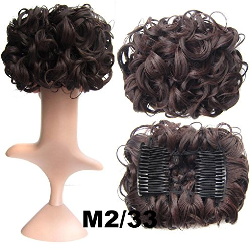 G Costume Unit (Iuhan Natural Hair Matte Silk Wig Long Curled Synthetic Wigs For Women Girls Ladies)