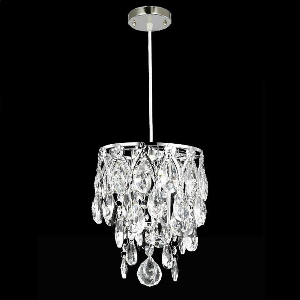 Perfect Home Modern Simple LED Crystal Chandelier, Single Head Creative Decorative Crystal Pendant Light Durable