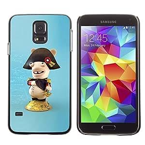 Caucho caso de Shell duro de la cubierta de accesorios de protección BY RAYDREAMMM - Samsung Galaxy S5 SM-G900 - Funny Figure
