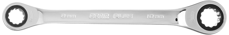 KS Tools 503.4511 GEARplus Doppel-Ratschenringschl/üssel 8x10mm
