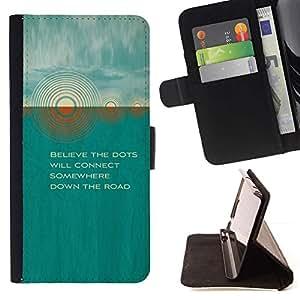 Momo Phone Case / Flip Funda de Cuero Case Cover - Teal Sun Cita hermoso poema Naturaleza - HTC One M7