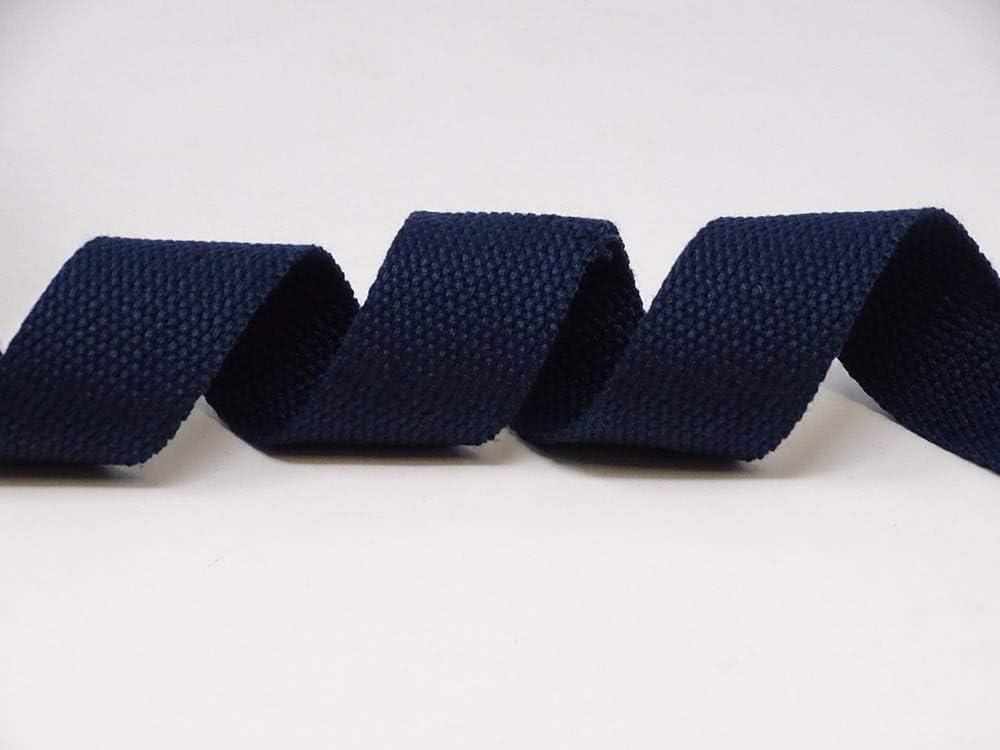 5 m, mezcla de algod/ón Berties Bows color azul marino Cincha