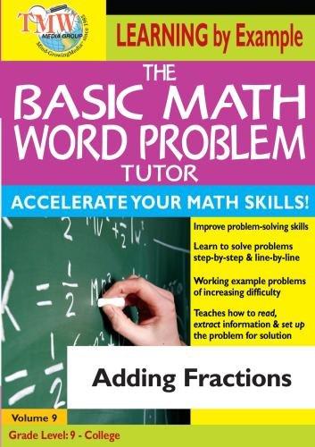 Basic Math Word Problem Tutor: Adding Fractions (Math Word Problems Dvd)