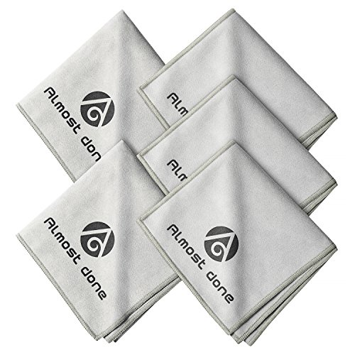 Pack of 5 Microfiber Shoe Cloth - Shoe Shine Buffing Cloth, Leather Polishing Cloth, Shoe Shining Cloth from Almost Done