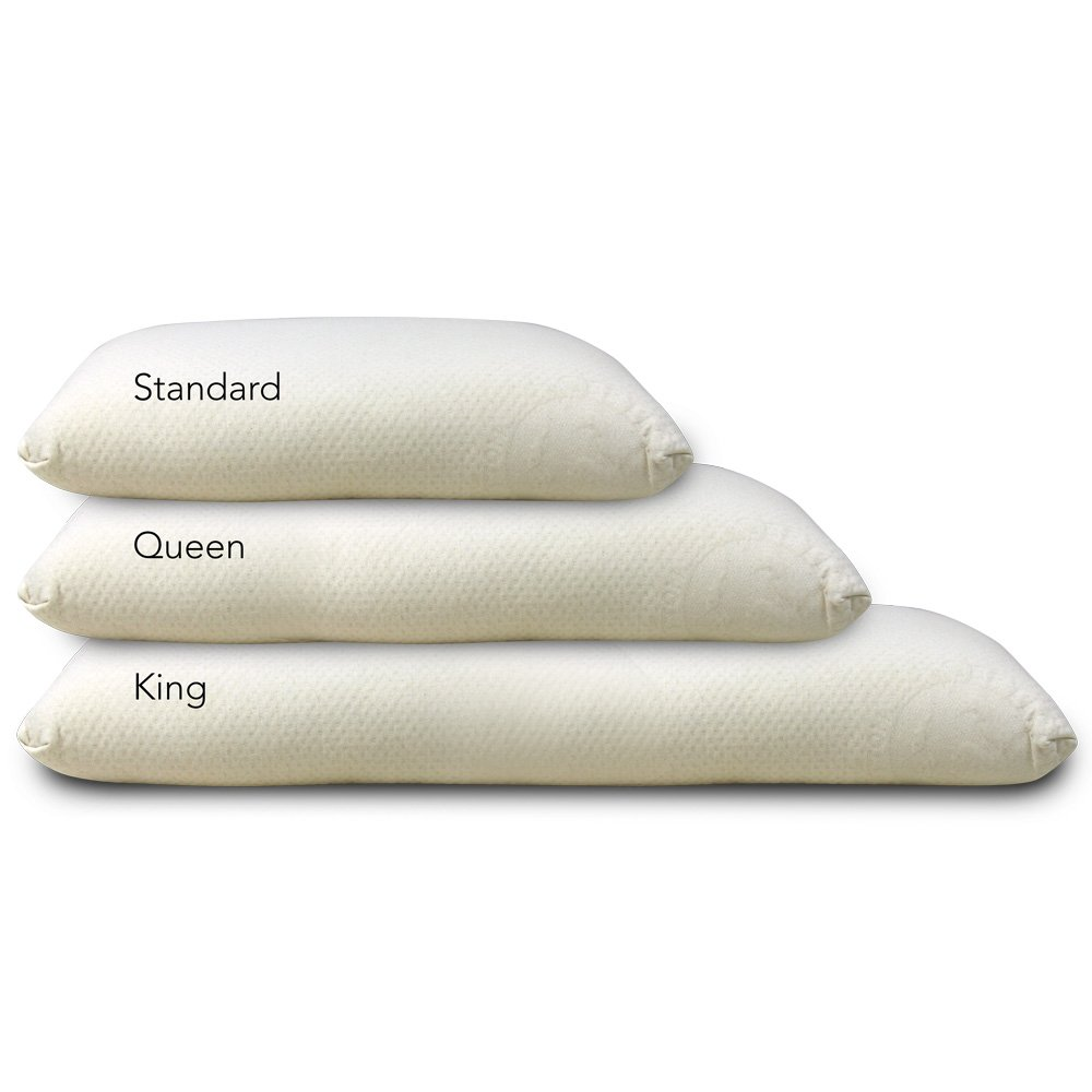 LIFEKIND Low-Profile All Natural Latex Foam Pillow - Extra Firm/King