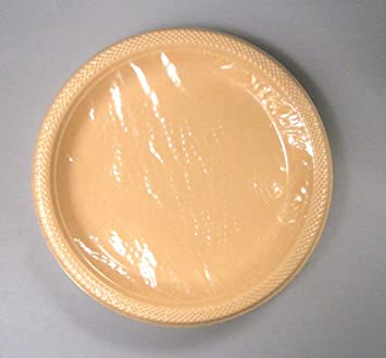 Plastic Plates and Bowls  10.25u0026quot; Peach Colored Plastic Plates & Amazon.com: Plastic Plates and Bowls : 10.25