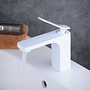 Kraus FUS-1821BN-WH Seda Single Lever Basin Bathroom Faucet ...