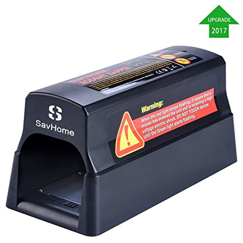 SavHome Rat Trap , Electronic Mouse Trap in the Instant and Safe Way to Kill Mice & Rats, Small Squirrels and and Other Similar Rodents (Rodent Trap) (Rodent Trap)