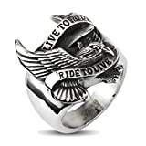Best Zaya Body Jewelry Mens Rings - Live to Ride, Ride to Live Stainless Steel Review