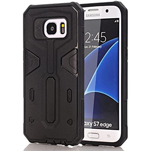 S7 Edge Case, Galaxy S7 Edge Cases, RIOGOO [Drop Protection] Hybrid Dual Layer Armor Defender Protective Case Cove for Samsung Galaxy S7 Edge Black Sales