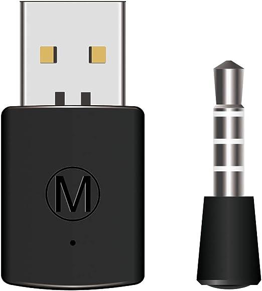 Mandda Stell - Adaptador de auriculares Bluetooth V4.0 USB 2.0 para mando PS4 para Xbox One, 0, negro: Amazon.es: Deportes y aire libre