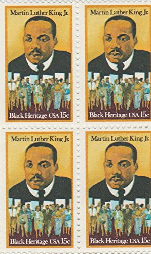 Martin Luther King Stamp (1979 Martin Luther King 15 Cent Stamp, Scott # 1771, Set of 4)