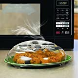 Appliances : Microwave Hover Anti-Sputtering Cover, New Food Splatter Guard Microwave Splatter Lid with Steam Vents | 11.5 – Inch