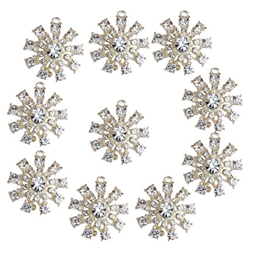- MagiDeal 10 Pieces Christmas Crystal Snowflake Charms Pendant Jewelry Making Findings for DIY Craft 26mm