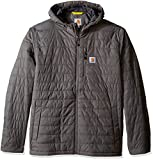 Carhartt Men's Big & Tall Gilliam Hooded Jacket, Gravel, X-Large/Tall
