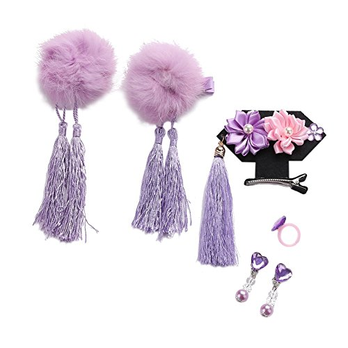 Baby Girls Chinese Style Hair Clips Cheongsam Hair pin Hair Accessories 6pcs/set]()