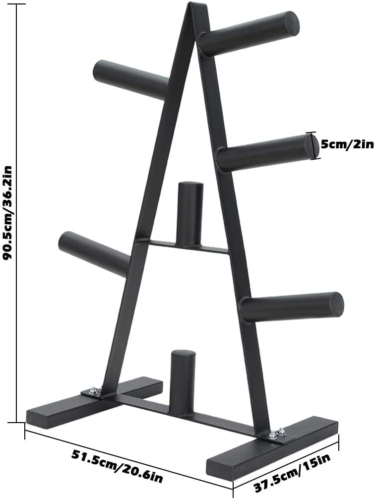 XIANGMIHU Olympic Weight Plate Rack//A Frame Weight Plate Tree 2 inch for Bumper Plates Free Weight Stand Metal Steel Home Workout Dumbbell Rack Storage Stand//Maximum Load Capacity 400 lbs//Black
