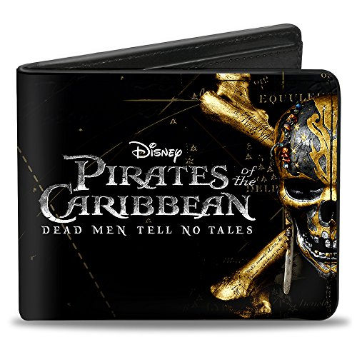 Buckle-Down Pirates of The Caribbean Dead Men Tell NO Tales Skull, Multicolor, Standard Size -