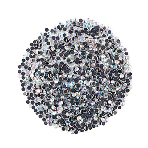 (Museya A Set of 1400pcs SS10 3mm Crystal AB Resin Hotfix Rhinestones Flatback for DIY Clothes Bag Jewelry Cellphone Decoration )