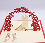 3D pop-up Sweet Wedding Greeting Cards Wedding & Baby Shower Greeting Card (96)