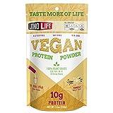LonoLife Vegan Protein Powder with 10g Protein, Vanilla, Stick Packs, 10 Count