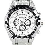CURREN New Quartz Hours Stainless Steel Water Resistant Men Analog Leisure Wrist Watch, Watch Central
