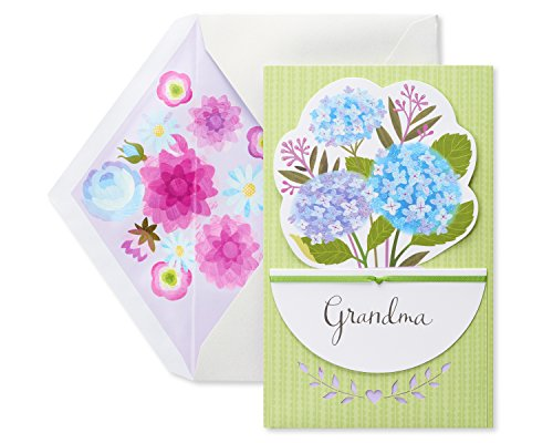 American Greetings Floral Mother's Day Greeting Card for Grandma with Glitter