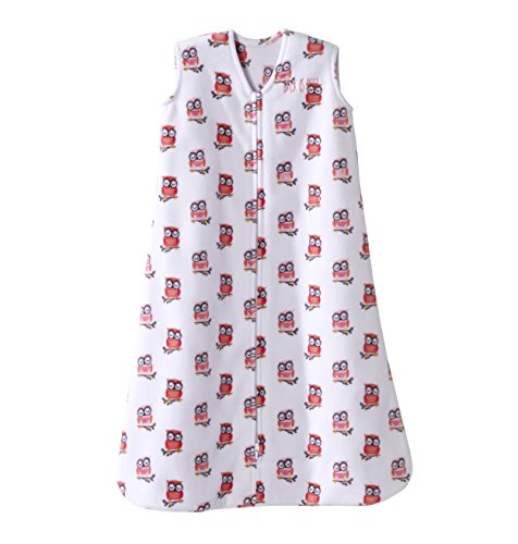Halo SleepSack Micro-Fleece Wearable Blanket, Pink Owl, Smal