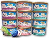Fancy Feast Purina Creamy Delights Wet Cat Food Variety Pack, 3 Flavors, 3 oz. Each (12 Total Cans) with bonus mouse toy (color may vary)