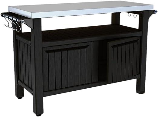 KETER Unity XL - Mesa de preparación al aire libre y unidad de ...