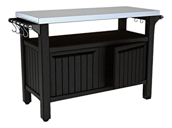 Bbq Side Table.Keter Barbecue Side Table 2 Door Graphite 54x123 7x90