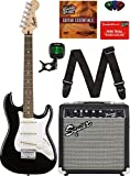 Squier by Fender Short Scale Stratocaster - Black Bundle with Frontman 10G Amp