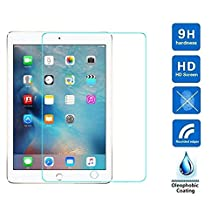 Apple iPad Air/iPad 5, iPad Air 2/iPad 6, iPad Pro 9.7,iPad 9.7 2017 Generic Screen Protector,DETUOSI 2.5D Rounded Edge 9H Super Hardness Tempered Glass Screen Protector Film for the New iPad 9.7 (2017)