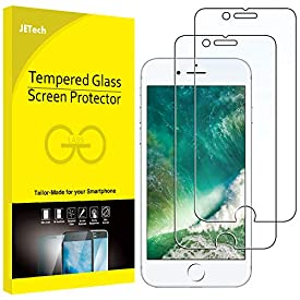 JETech Screen Protector for Apple iPhone 8 Plus and iPhone 7 Plus, 5.5-Inch, Tempered Glass Film, 2-Pack