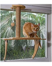 STAUBER Best Bamboo Cat Window Perch - Renewable and Eco Friendly! (Natural, Scratching Post)