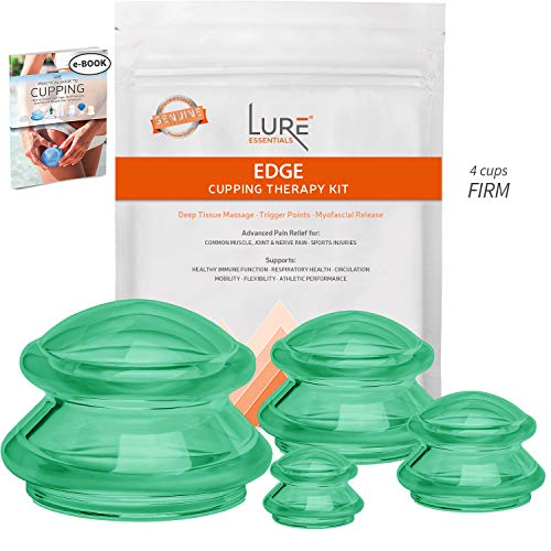 EDGE Cupping Therapy Sets - Silicone Vacuum Suction Cupping Cups - Muscle, Nerve, Joint Pain Relief...