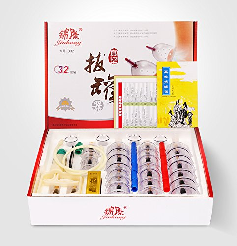 Bit Zen Professional Cupping Therapy Set (32 Pieces) Eco-friendly Material, Vacuum cupping therapy,