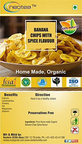 Neotea Organic Home Made Banana Chips, Spices Flavor – 250g