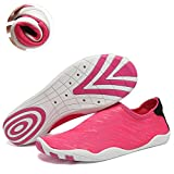 Fantiny Men And Women's Barefoot Quick-dry Water Sports Aqua Shoes With 14 Drainage Holes For Swim, Walking, Yoga, Lake, Beach, Garden, Park, Driving, Boating,svd,rose.red,38 | amazon.com